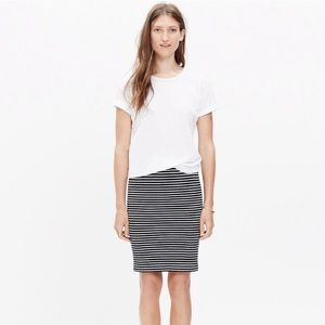 Madewell - Stretch Knit Striped Pencil Skirt